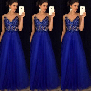 New Women's Mesh Long Formal Wedding Evening Ball Gown Party Sundressrricdress-rricdress