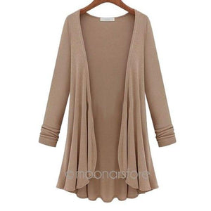 2019 Fashion Cardigan Women Autumn Winter Poncho Crochet Knit Tops Thin Blouserricdress-rricdress