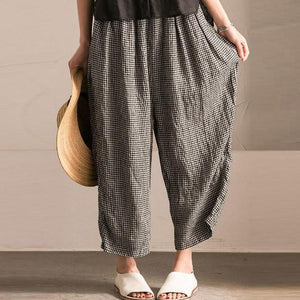 Women Elastic Waist Casual Wide Legs Baggy Loose Pants woman trousers summerrricdress-rricdress