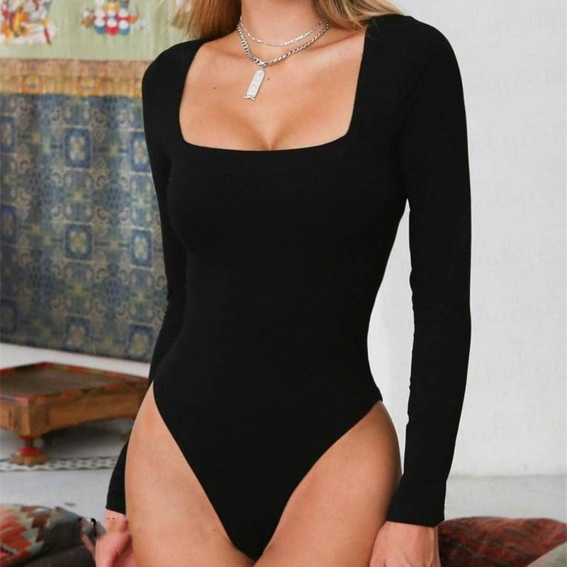 Sexy Women Ladies Bodycon Bodysuit Long Sleeve Stretch Leotard Tops 2 Colorsrricdress-rricdress