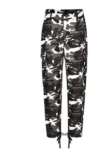 Fashion Womens Camo Long Trousers Wide Leg Pants Sweatpants Ladies High Waistrricdress-rricdress