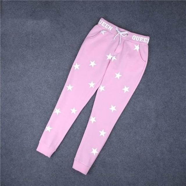 Sweatpants Women Pants Fashion Korean Women Ladies Gray Hip Hop Dance Haremrricdress-rricdress