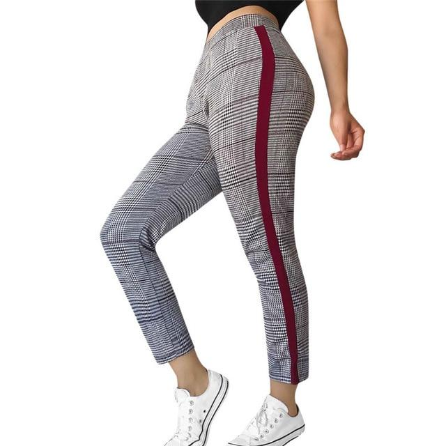 Plaid Pants Women High Waist Sweatpants Casual Trousers For Women Harajuku Pantalonesrricdress-rricdress