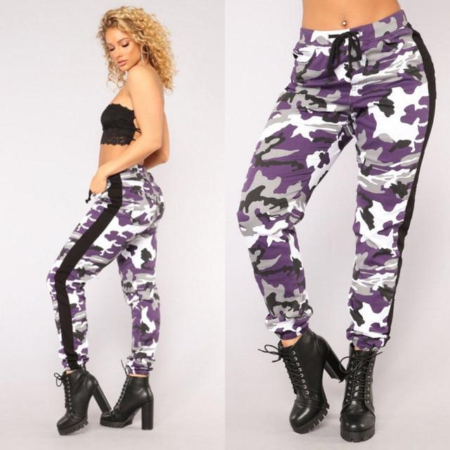 MeiHuiDa 2018 New Style Fashion Casual Women Camouflage Lace Up Pants Joggersrricdress-rricdress