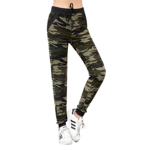 2018 Women Camouflage Pants Sweatpant Casual Drawstring Pocket Slim Trousers Joggers Ladiesrricdress-rricdress