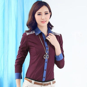 Fashion women long sleeve shirt 2018 New slim elegant blouses shirts ladiesrricdress-rricdress