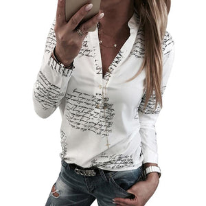 Feminina Blouse Shirt Women Letter Fashion Women Blouses 2019 Long Sleeve Womensrricdress-rricdress