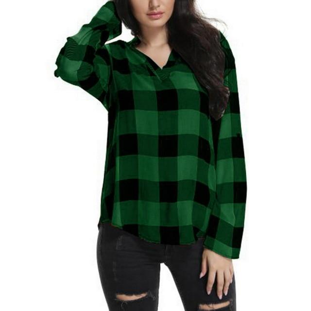 Plus Size 5XL 2018 New Spring Autumn Women Plaid Casual Looserricdress-rricdress
