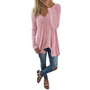 Winter women blusas solid girl shirts Women Batwing Sweater Jumper Tops Oversizerricdress-rricdress