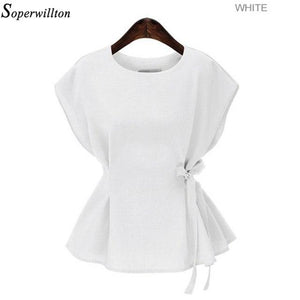Women Blouse Shirt Summer Blouse Plus Size 5XL 2019 Short Sleeve Casualrricdress-rricdress