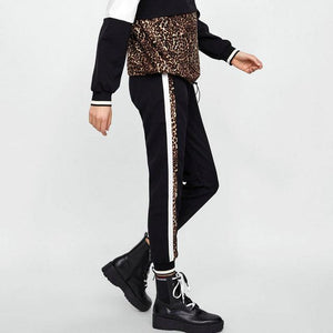 New Women Leopard Printed Harem Pants High Waist Casual Fashion Vintage Pantsrricdress-rricdress