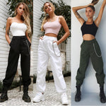 Women High Waist Fashion pant Elegant Hip hop Vogue Pant Ladies pantalonrricdress-rricdress
