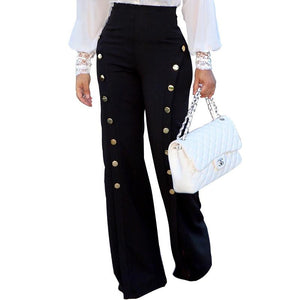 High Waisted Casual Flare Pants Woman Fashion New Trousersrricdress-rricdress