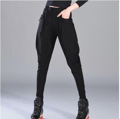 Spring Summer Haroun Pants Female Fashionable Black Pants South Korea Hip Hoprricdress-rricdress