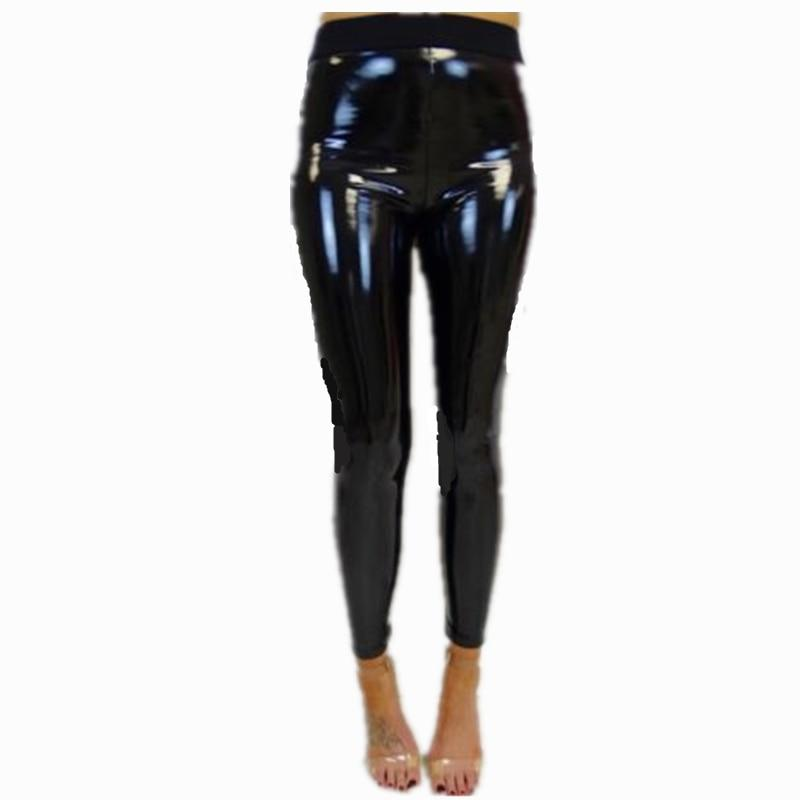 Women Ladies Sexy Black PU Wet Look Faux Leather Stretchy Legging Jegingrricdress-rricdress