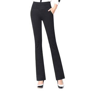Women Office Lady Suit Pants Stretchy Boot Cut Stretch Trousers Slimming Straight-legrricdress-rricdress