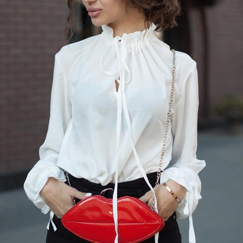 2018 New Casual Loose Women's Shirt Elegant Ruffled Office Blouse Fashion Sweetrricdress-rricdress