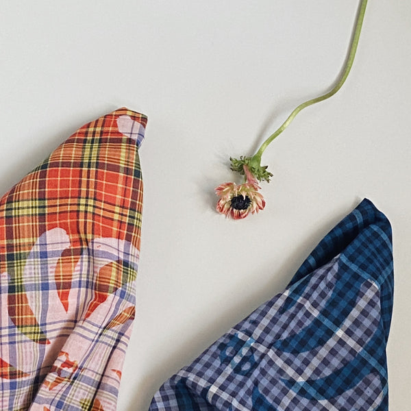KHADI PLAID PRINTED  BANDANA
