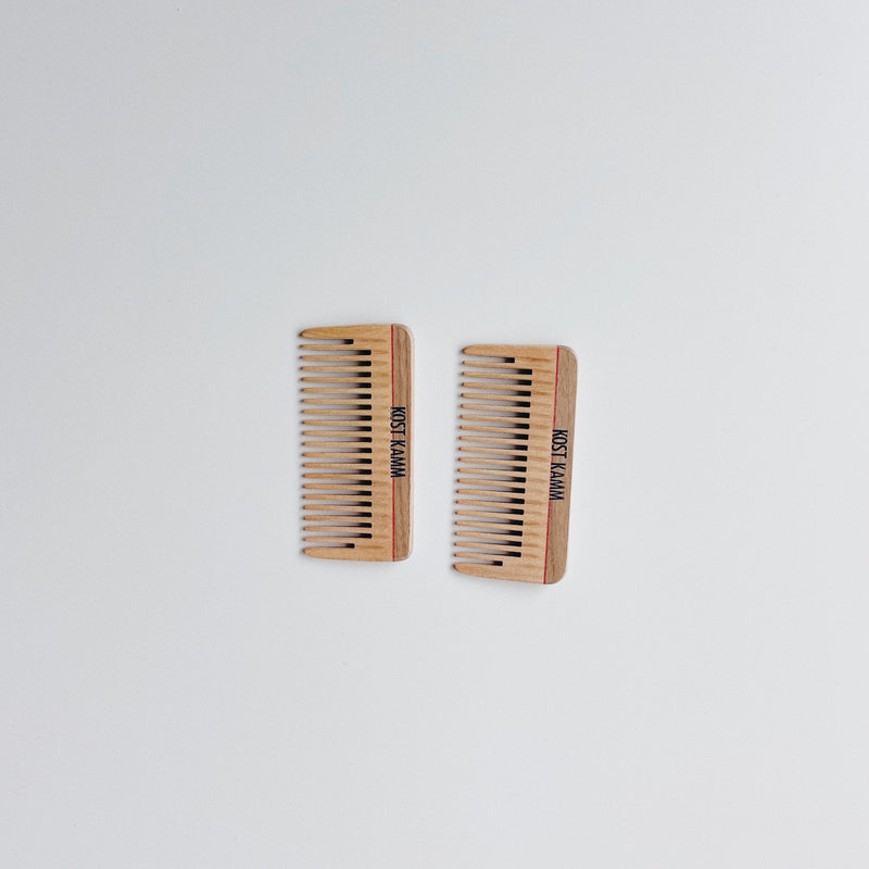 MINI POCKET COMB (A) - NATURAL