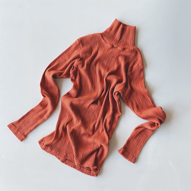 COTTON SILK RANDOM L/S TURTLE - Vermilion