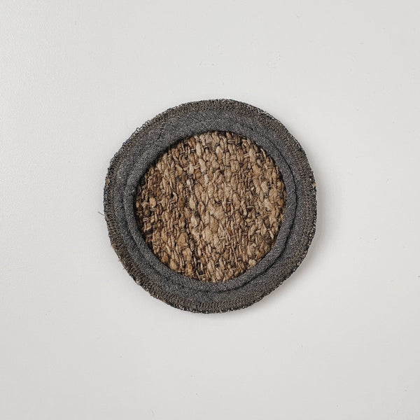 TUSSAH CIRCLE MAT - NATURAL (S)