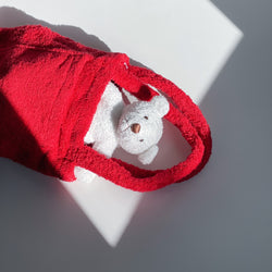TOWEL BAG - STRAWBERRY RED / L