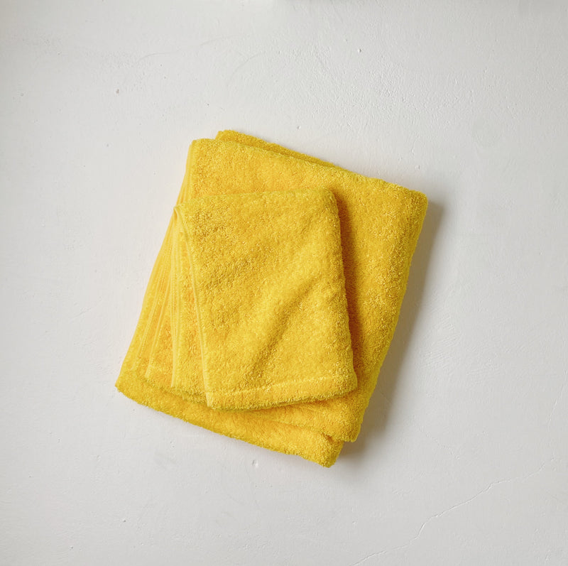 BATH TOWEL - zoo yellow