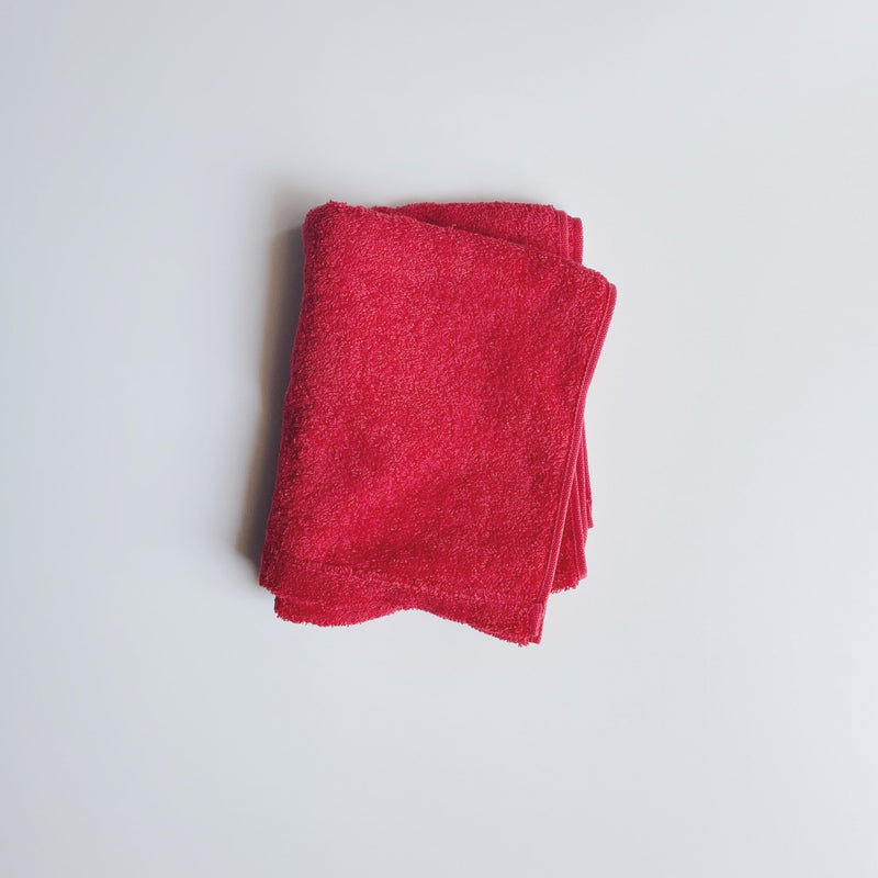 FACE TOWEL - strawberry red