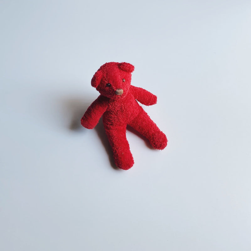 TOWEL BEAR MINI - STRAWBERRY RED