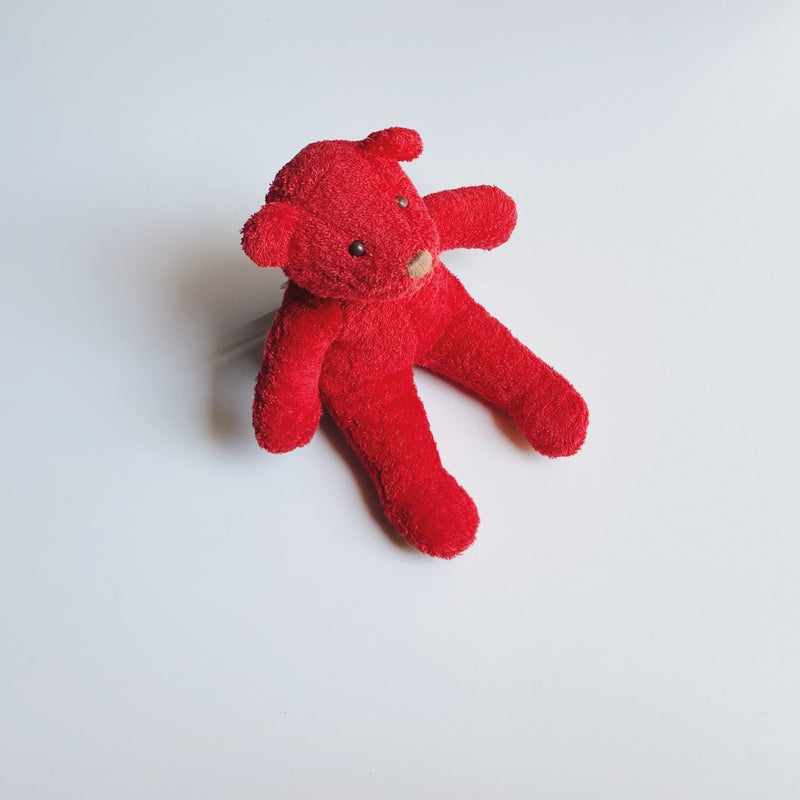 TOWEL BEAR - STRAWBERRY RED