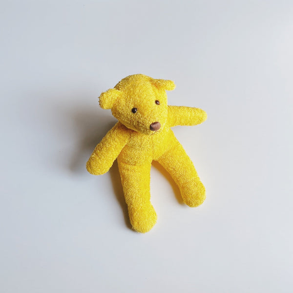 TOWEL BEAR - zoo yellow
