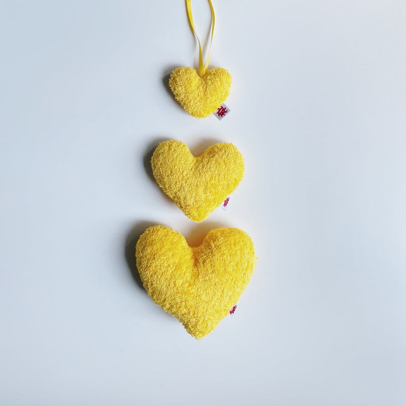 TOWEL HEART - zoo yellow /  M