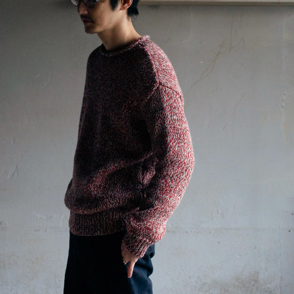 CREW NECK KNIT - RED / Small