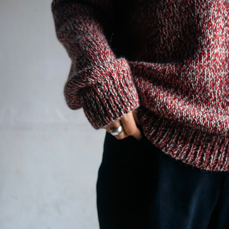 CREW NECK KNIT - RED / X-Small