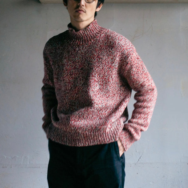 HIGH NECK KNIT - RED / Small