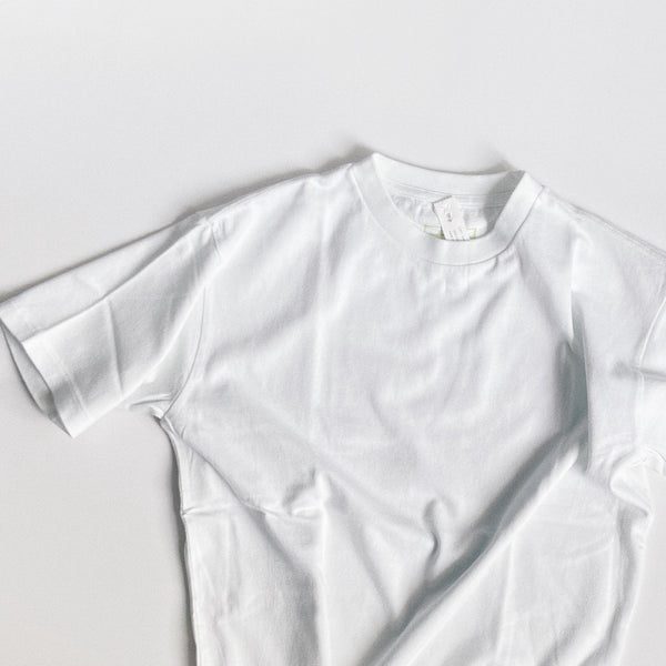 BASIC S/S COTTON TEE - SMOKY WHITE