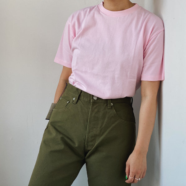 BASIC S/S COTTON TEE - PINK