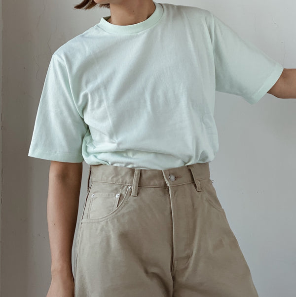BASIC S/S COTTON TEE - MINT