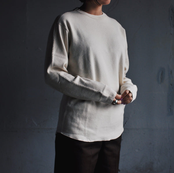 THERMAL L/S CREW - ECRU