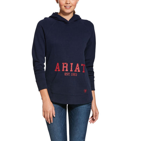 ARIAT WOMEN'S LOGO SWEATSHIRT NAVY SMALL ***SALE PRICE***