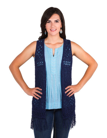 Noble Outfitters Arizona Knit Vest Blue