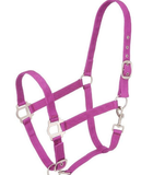 Tough-1 PONY Halter With Satin Hardware MAGENTA