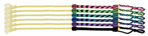 Showman Braided nylon Quirt (asst colors)