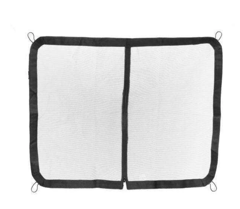 Showman Nylon Rubber Mesh Zipper Trailer Screen Standard Black