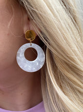 Load image into Gallery viewer, Marley Gold & White Earring