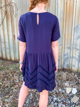 Load image into Gallery viewer, Navy Ruffle Dress