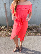 Load image into Gallery viewer, Coral Off The Shoulder