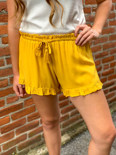 Yellow Soft Short