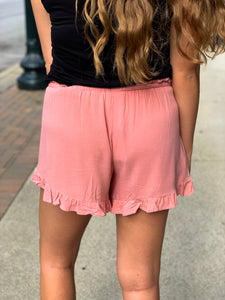 Pink Soft Ruffle Short