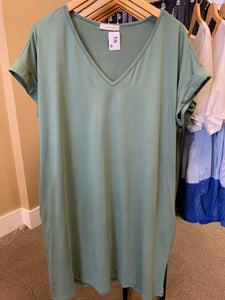 Curvy Sage T shirt Dress